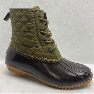 JBU Stefani Rain Ankle Boot Quilted Top Size 8.5M
